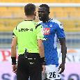 """""""Non urlare, porta rispetto"""": battibecco Giua-Koulibaly durante Parma-Napoli [FOTO CN24]"""