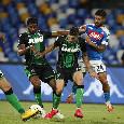Altro errore in uscita del Napoli, il Sassuolo insiste e trova il pari: il VAR per la quarta volta annulla tutto!