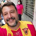 Salvini con la maglia del Benevento, la rivolta della curva Sud