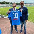 Ritiro Napoli, la visita a Castel di Sangro del Ministro Costa: la foto con Edo De Laurentiis [FOTO]