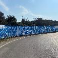 """""""Malgrado mancherà il nostro sostegno..."""": striscione della Curva A a Castel Volturno per la ripresa del campionato [FOTO]"""