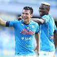 Napoli-Atalanta, le statistiche all'intervallo: 12 tiri verso la porta orobica, dominio azzurro! [GRAFICO]