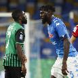 Sassuolo, Boga ancora infortunato: a rischio per il match contro il Napoli