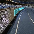 Maxischermo e tabelloni pubblicitari per omaggiare Maradona: il San Paolo è pronto! [FOTO ESCLUSIVE]