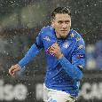Record per Zielinski: è l'unico del Napoli capace di segnare nelle ultime tre Europa League azzurre