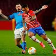 Napoli-Granada, il primo tempo termina 1-1: qualificazione in salita per gli azzurri