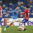 Napoli-Granada 2-1: gli azzurri rientrano in partita con Fabian Ruiz e Gattuso lancia Mertens