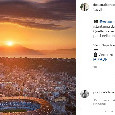 De Nicola posta una foto del Maradona con il tramonto alle spalle, Lavezzi commenta incantato [FOTO]
