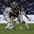 RILEGGI DIRETTA - Napoli-Inter 1-1 (36' aut. Handanovic, 54' Eriksen). Gli azzurri non vanno oltre il pareggio