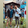 """Calaiò in visita al murales di Maradona: """"Non potevo non visitare questa mostra"""" [FOTO]"""