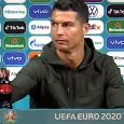 """Ronaldo-Coca Cola, la UEFA: """"Non escludiamo multe: gli sponsor sono importanti"""""""