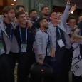 """Italia, gli Azzurri cantano sulle note di """"Notti magiche"""": Insigne scatenato con tanto di cassa! [VIDEO]"""