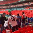 Euro2020 - Finale Inghilterra-Italia, a Wembley è arrivato anche 'Tiraggir' [FOTO]