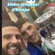 """Di Lorenzo e Insigne festeggiano sul bus: """"Fratm, siamo Campioni d'Europa"""" [FOTO]"""