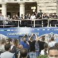 Festa per le strade di Roma, Di Lorenzo in diretta mostra la festa col pullman e i tifosi! [VIDEO]