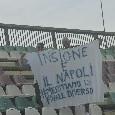 """""""Insigne e il Napoli, meritiamo un finale diverso"""", striscione dei tifosi al Patini [FOTO CN24]"""