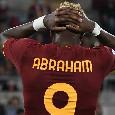 Roma-Napoli, ammonito Abraham: l'attaccante è rientrato in campo senza permesso