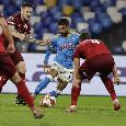RILEGGI DIRETTA - Napoli-Legia Varsavia 3-0 (76' Insigne, 80' Osimhen, 95' Politano): prima vittoria in Europa!