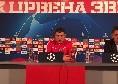"""Stella Rossa, Milojevic: """"Non abbiamo paura del PSG, prometto a tutti che lotteremo fino all'ultimo briciolo di forza!"""""""
