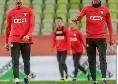 Milik con Lewandowski: Lavorando duro e continuando a sorridere [FOTO]