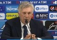 """Ancelotti in conferenza stampa: """"Vittoria meritata, emersa cazzimma. Allan-Fabiàn, nessuna controindicazione: possono giocare insieme. Hamsik a Milano ci sarà"""" [VIDEO]"""