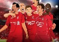 Il Liverpool carica i tifosi con un tweet: Un'altra grande notte europea sotto le luci speciali di Anfield. Spuntano Gerrard ed Agger