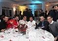 Cena SSC Napoli, spuntano le prime foto: ADL e Ancelotti brindano, quanti sorrisi! [FOTOGALLERY]