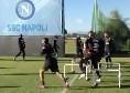 """SSC Napoli: """"Allenamento iniziato!"""", via agli esercizi di riscaldamento [VIDEO]"""
