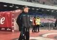 Immobile sul prato dello stadio San Paolo: il bomber biancoceleste prima del match [VIDEO]