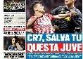 """TuttoSport Prima Pagina: """"CR7, salva tu questa Juve! Icardi in castigo"""" [FOTO]"""