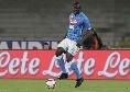 Koulibaly ammonito dopo soli 9 minuti: era diffidato e salterà il match contro il Bologna