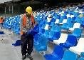 Lavori San Paolo, il 15 giugno i Maxischermi, il 25 completati i sediolini ad eccezione della Curva B: pista d'atletica nel fine settimana, spogliatoi e copertura dopo le Universiadi