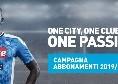 Abbonamenti SSC Napoli 2019/20: da oggi è possibile acquistare quello per le restanti 18 gare di Serie A, prezzo ridotto!