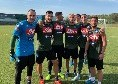 Allenamento pomeridiano concluso per il Napoli, ecco la squadra che ha vinto il quadrangolare in famiglia [FOTO]