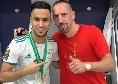 Fiorentina, Ribery pronto per sfidare Ancelotti: il francese fu uno dei più felici per l'esonero di Carletto al Bayern