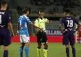Ribery trattenuto da Hysaj, Montella protesta con Massa e si becca il giallo: per l'arbitro è tutto regolare