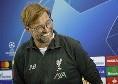 """Liverpool, Klopp ai media inglesi: """"Napoli squadra di gran livello tecnicamente e per mentalità, solo giocando al massimo possiamo vincere!"""""""