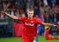 Salisburgo-Napoli, gol annullato al Var ad Haaland