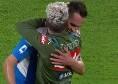 Napoli-Verona, su assist di Fabian la sblocca Milik: gol e abbraccio a Mertens [FOTO]
