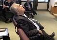 Clamoroso Lotito, si è addormentato durante l'assemblea di Lega [FOTO]