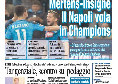 """Prima Pagina de Il Roma: """"Mertens-Insigne, il Napoli vola in Champions"""""""