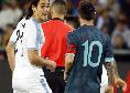 """""""Quando vuoi!"""", rissa sfiorata Cavani-Messi in Argentina-Uruguay! Il Matador l'aveva provocato così [VIDEO]"""