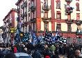 San Paolo, i gruppi di Curva B attendono il pullman del Napoli all'esterno dell'ingresso [FOTO E VIDEO CN24]