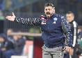 """Gattuso a KK: """"Ho fatto il 4-2-4 nel finale per esordire con una vittoria. Non voglio entrambi i terzini alti, uno deve stare basso. Su Callejon ed Insigne..."""""""