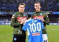 Napoli-Fiorentina, Milik premiato per le 100 presenze in maglia azzurra [FOTO CN24]
