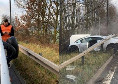 Spaventoso incidente stradale per l'ex Samp Romero: Lamborghini distrutta, lui illeso per miracolo [FOTO]