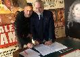 Rrahmani firma con il Napoli, le immagini dell'incontro alla Filmauro con ADL [FOTO]