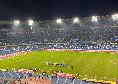 Napoli-Juve: tornelli aperti dalle 17,45, il club azzurro invita i tifosi ad anticipare l'ingresso al San Paolo