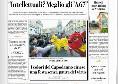 """La Repubblica, prima pagina: """"Ruotolo: intellettuali? Meglio gli a 67'"""" [FOTO]"""