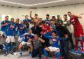 Il Napoli esulta, festa grande negli spogliatoi dopo la vittoria contro la Juve [FOTO]